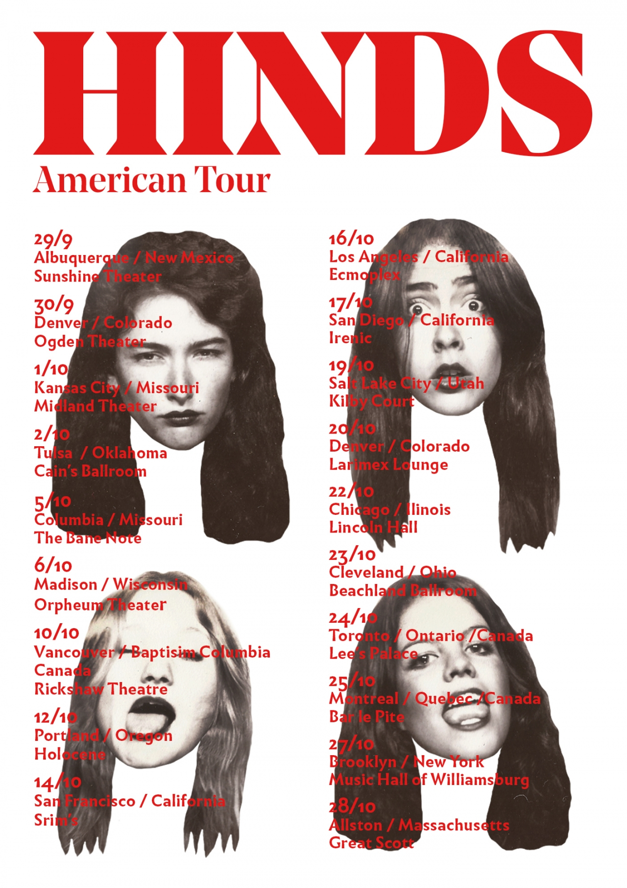 Pau Bonet — Creative & Art Director Hinds American Tour
